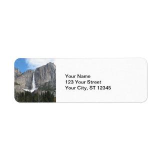 ÖvreYosemite Falls Returadress Etikett