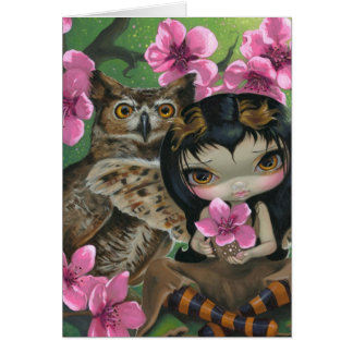 Owlyn hälsningkort i för springtimen