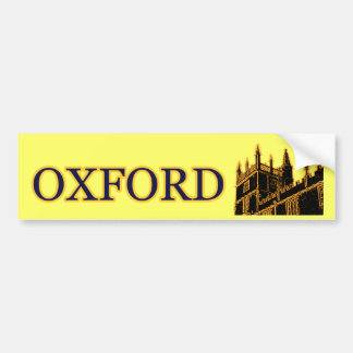 Oxford England byggnad 1986 röra sig i spiral guld Bildekal