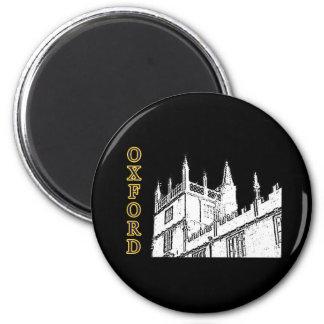 Oxford England byggnad 1986 röra sig i spiral vit Magnet För Kylskåp