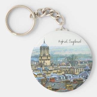 Oxford England, det bästa tak beskådar Rund Nyckelring