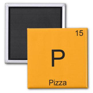 P - För kemiinslag för Pizza rolig T-tröja för Magnet
