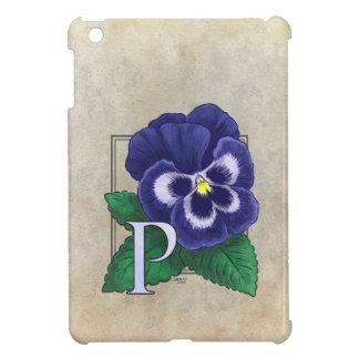 P för PansyblommaMonogram iPad Mini Fodral