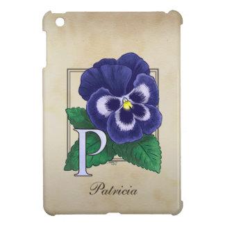 P för PansyblommaMonogram iPad Mini Skal