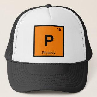 P - Symbol för bord för Phoenix stadskemi Keps