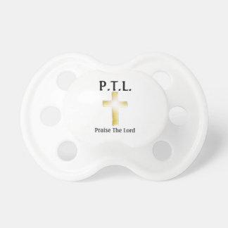 P.T.L. 0-6 månadnappar, vit Napp