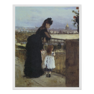 På balkongen Berthe 1871-72 Morisot Poster