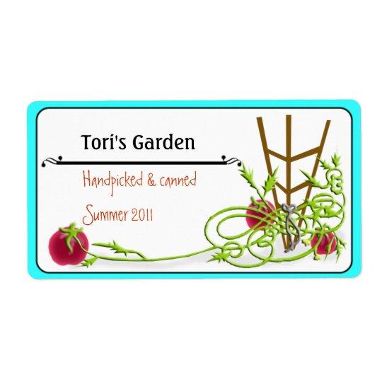 på burk för tomat fraktsedel