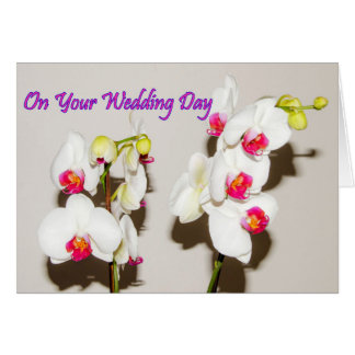 På din bröllopsdag hälsningskort