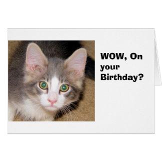 På din födelsedag hälsningskort