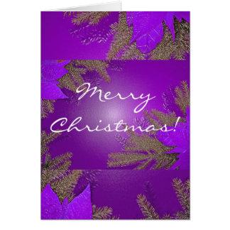 På engelska juljulstjärnalilor hälsningskort