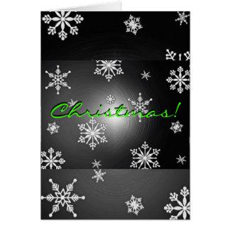 På engelska julsnöflingorsvart och grå färg