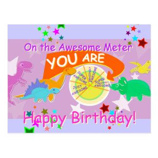 På fantastisk mäta dig är den enorma födelsedagen vykort