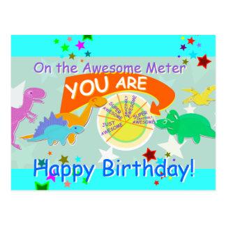På fantastisk mäta dig tecknadDinosaurfödelsedagen Vykort