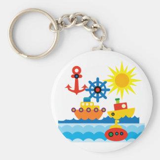 På hav rund nyckelring