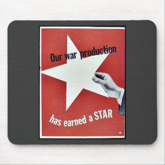 På krig har produktionen tjänat en stjärna musmatta
