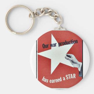 På krig har produktionen tjänat en stjärna nyckelringar