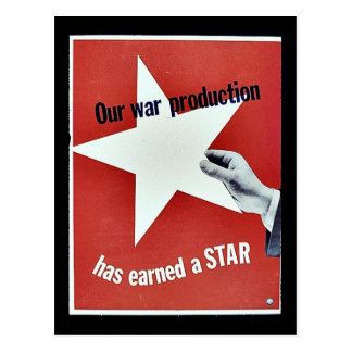 På krig har produktionen tjänat en stjärna vykort