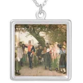 På lämnor 1883 silverpläterat halsband