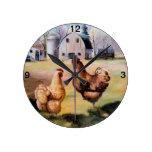 På lantgården ta tid på vägg klocka