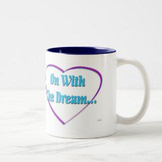 På med drömmen Två-Tonad mugg