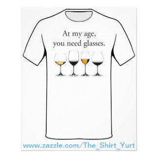 På min ålder behöver du exponeringsglas flygblad