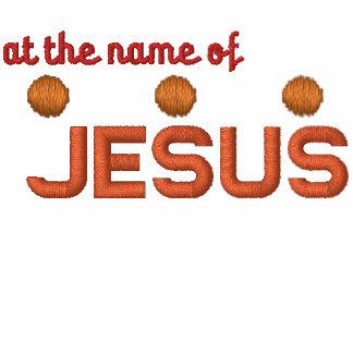 På namn av Jesus den kristna jackan Broderad Athletic Jacka I Fleece