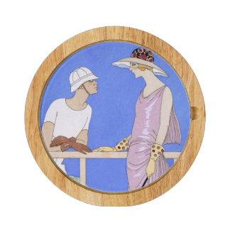 På poloen 1920-29 (pochoirtrycket) rektangulär ostbricka