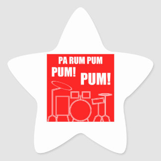 Pa-rom Pum Pum Pum Stjärnformat Klistermärke