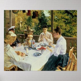 På Tea-Bord 1888 Poster