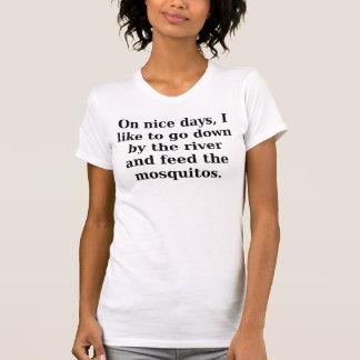På trevliga dagar gillar jag för att gå besegrar t shirt