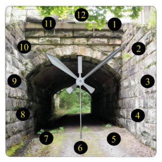 Pa-tunnel Fyrkantig Klocka