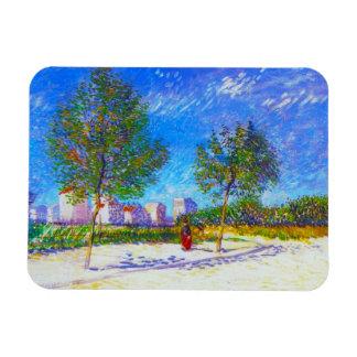 På utkanten av Paris av Vincent Van Gogh Magnet