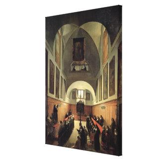 Påbörjandet av en ung novis från Albano i th Canvastryck