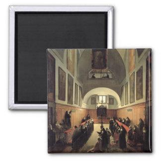 Påbörjandet av en ung novis från Albano i th Magnet