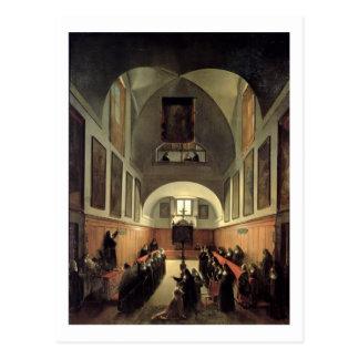 Påbörjandet av en ung novis från Albano i th Vykort