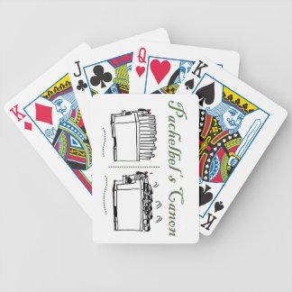 Pachelbels Canon som leker kort Spelkort
