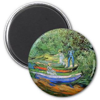 Packa ihop av Oisen på Auvers av Vincent Van Gogh Magnet