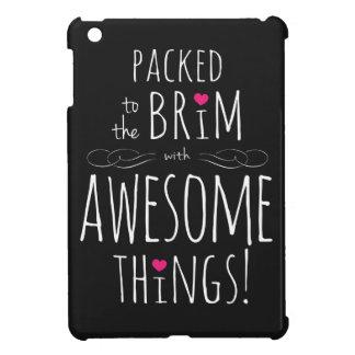 Packat för att råga med enorma saker iPad mini mobil skal