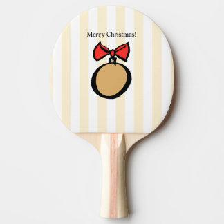 Paddlar den guld- prydnadpingen Pong för god jul Pingisracket
