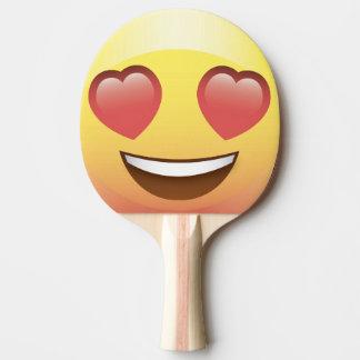 Paddlar den lyckliga Emoji för hjärtaögat pingen Pingisracket