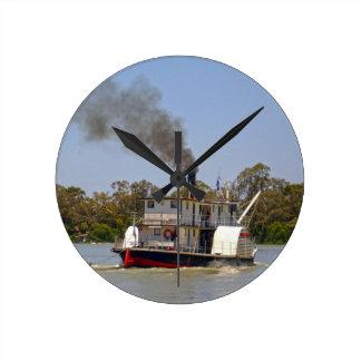Paddle_Steamer _Murray_River, _, Rund Klocka