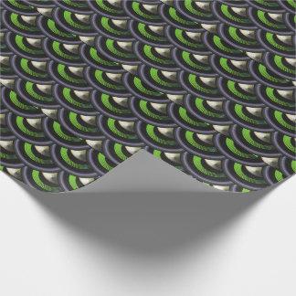 Påfågel inspirerat papper för sjal för presentpapper