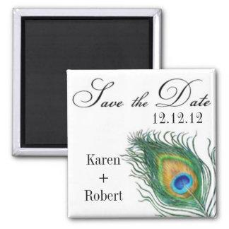 Påfågel: Spara datumet Magnet