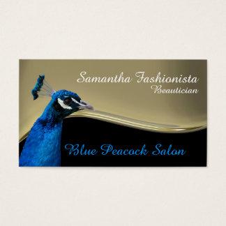 Påfågelbeauticianguld vinkar visitkort