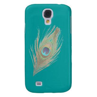 Påfågelfjäder Galaxy S4 Fodral