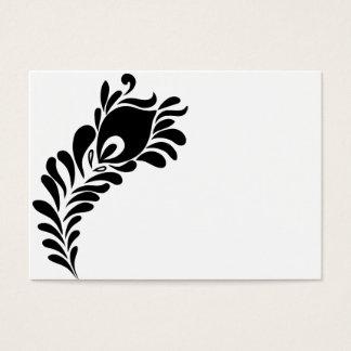 PåfågelfjäderSilhouette Visitkort