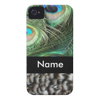 Påfågelfjädrar iPhone 4 Case-Mate Cases