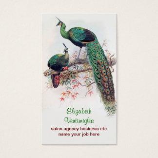 påfågeln kopplar ihop visitkorten visitkort