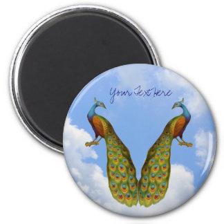 Påfågeln parar den djura magneten magnet rund 5.7 cm